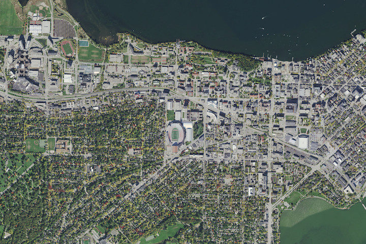 University of Wisconsin-Madison Aerial Photo, 2015 (color)